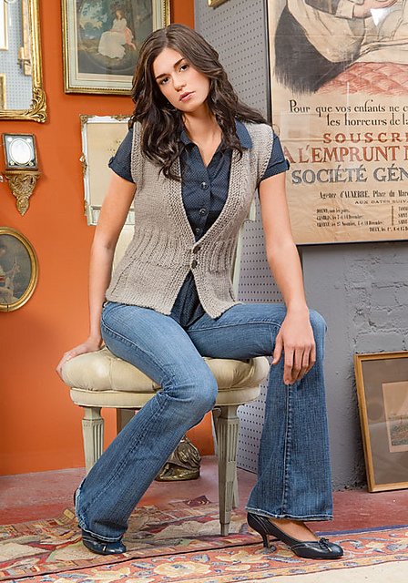 Pleated Vest by Amy O'Neill Houck