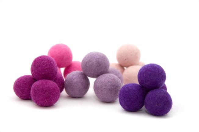 Bolas de fieltro de 1.5, 2 y 3 cm de diámetro