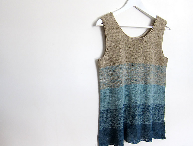 Ombre Tank by espace tricot