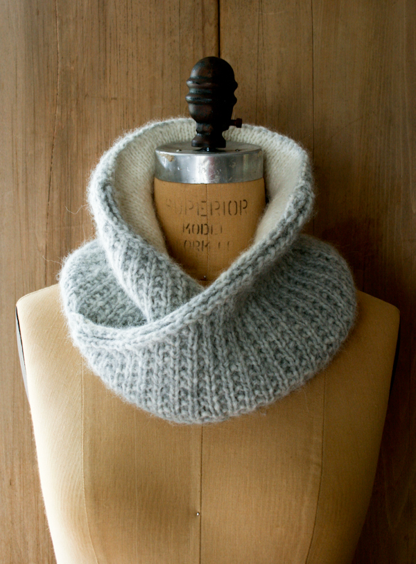 Shawl Collar Cowl by Purl Bee